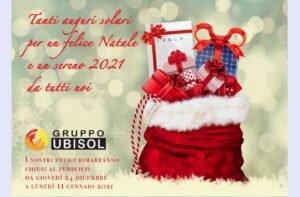 Il Gruppo Ubisol vi augura buon Natale