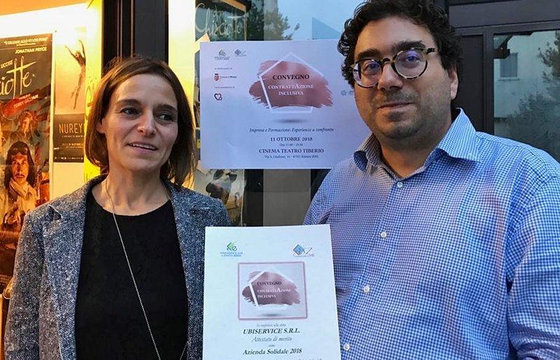 Solidarietà: Enaip premia il gruppo Ubisol