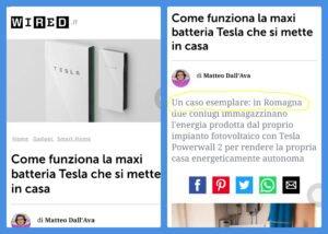 Sulla rivista Wired si parla delle batterie Tesla e del progetto Ubisol